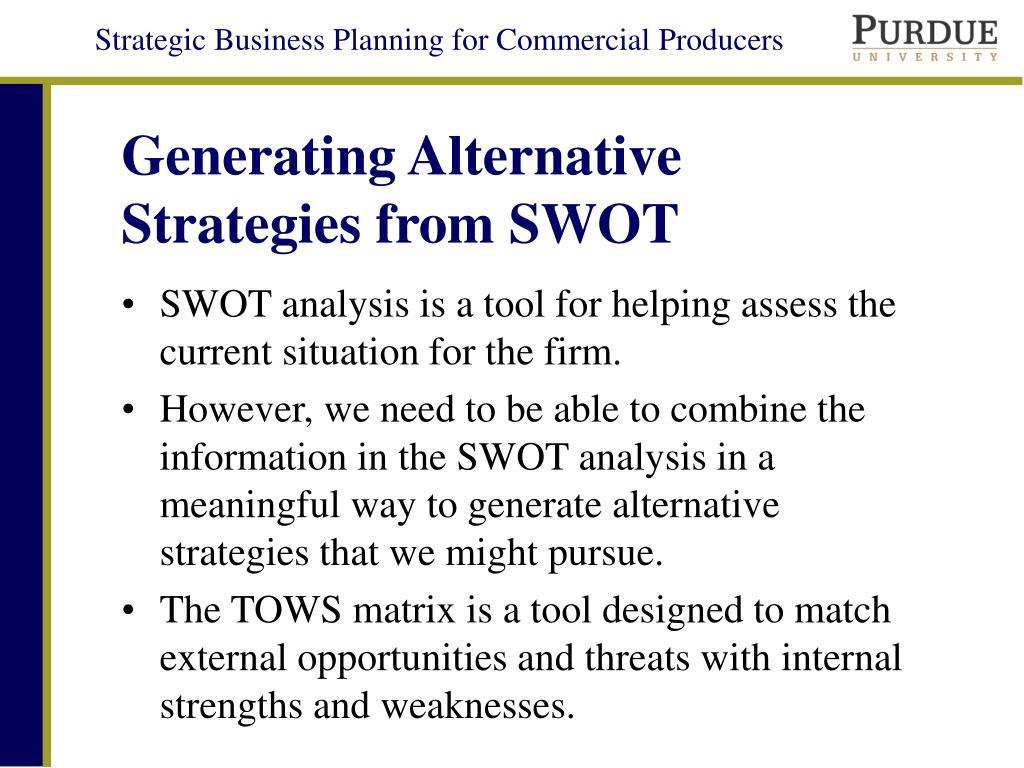 generating alternative strategies Pos tentang generating alternative strategies using a tows matrix yang ditulis oleh informasi jadwal training dan seminar 2016-2017-2018.