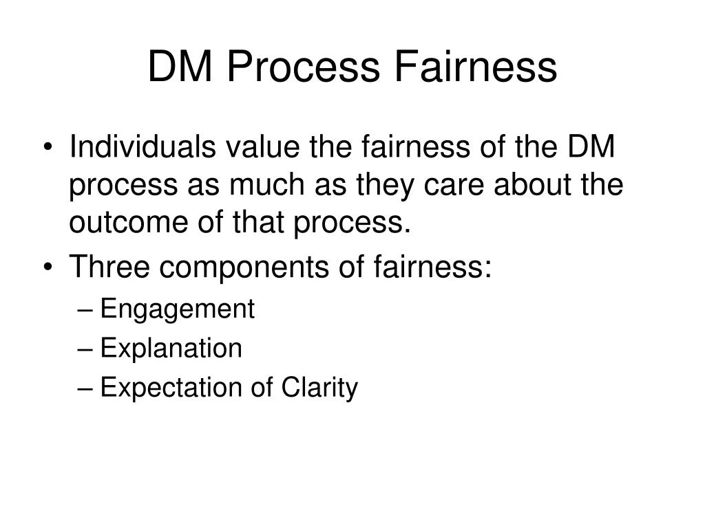 DM Process Fairness