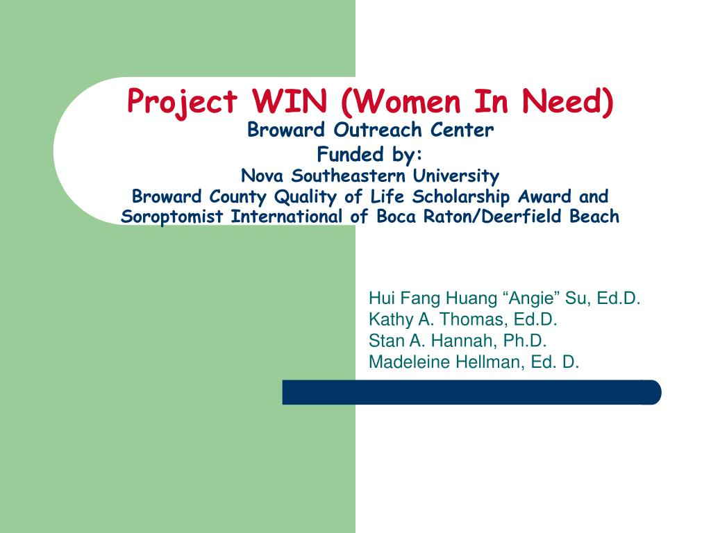 Project WIN (Women In Need)