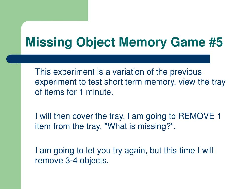 Missing Object Memory Game #5