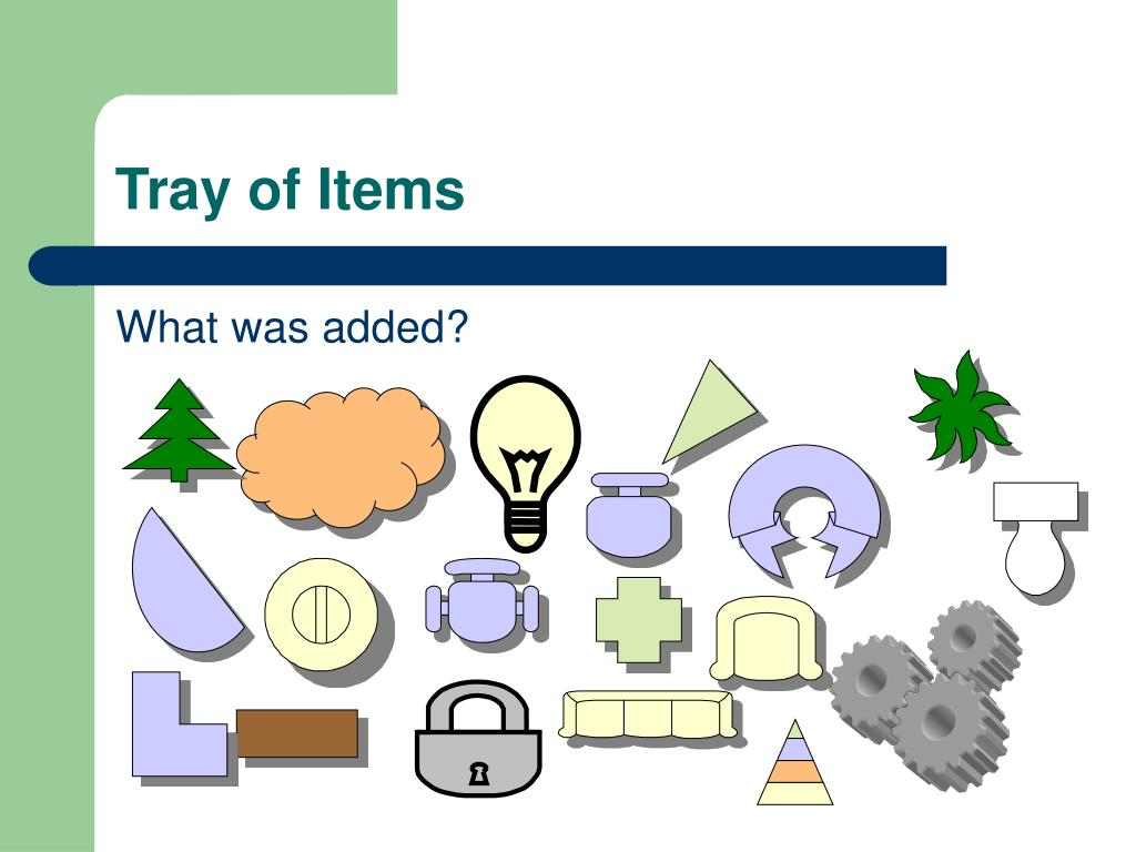 Tray of Items