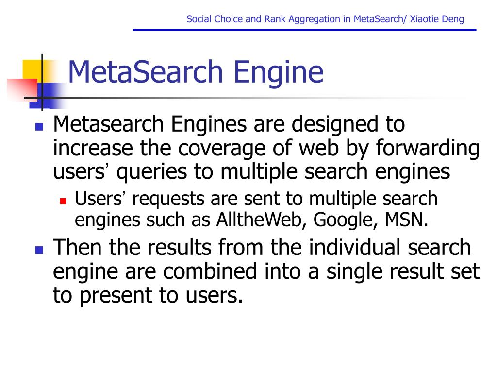 MetaSearch Engine