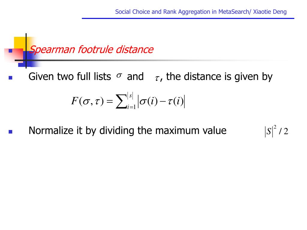 Spearman footrule distance