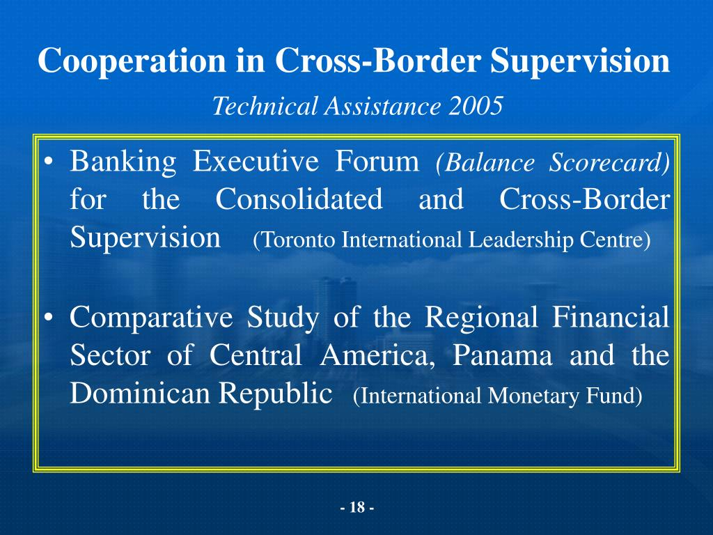 Cooperation in Cross-Border Supervision