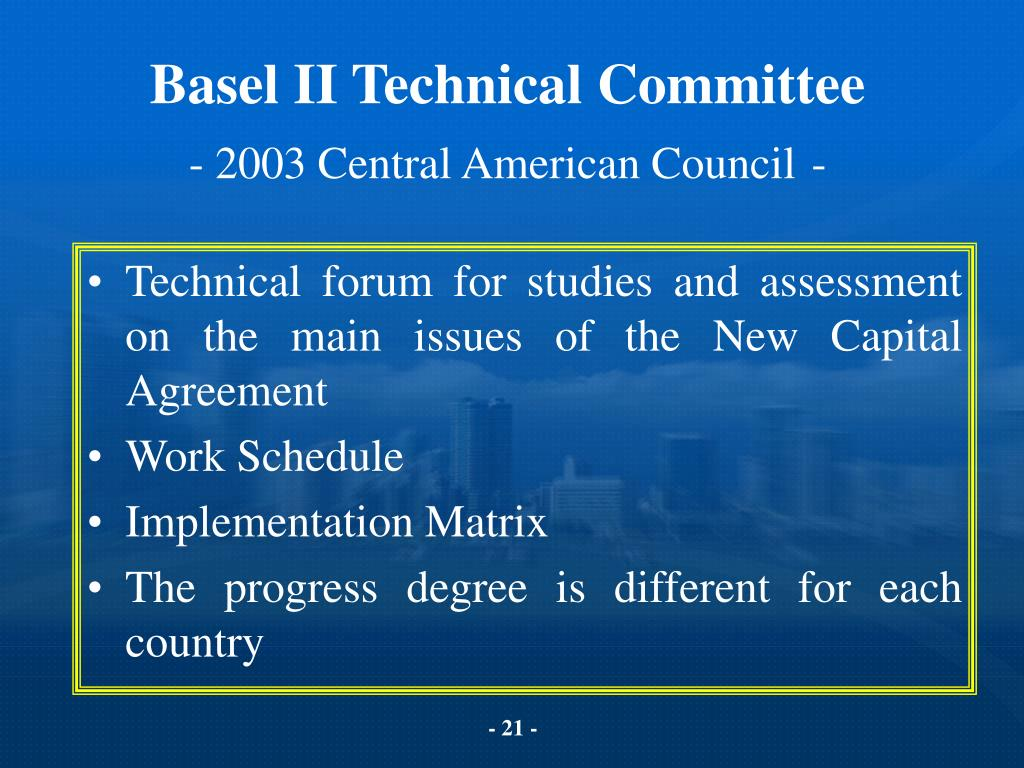Basel II Technical Committee