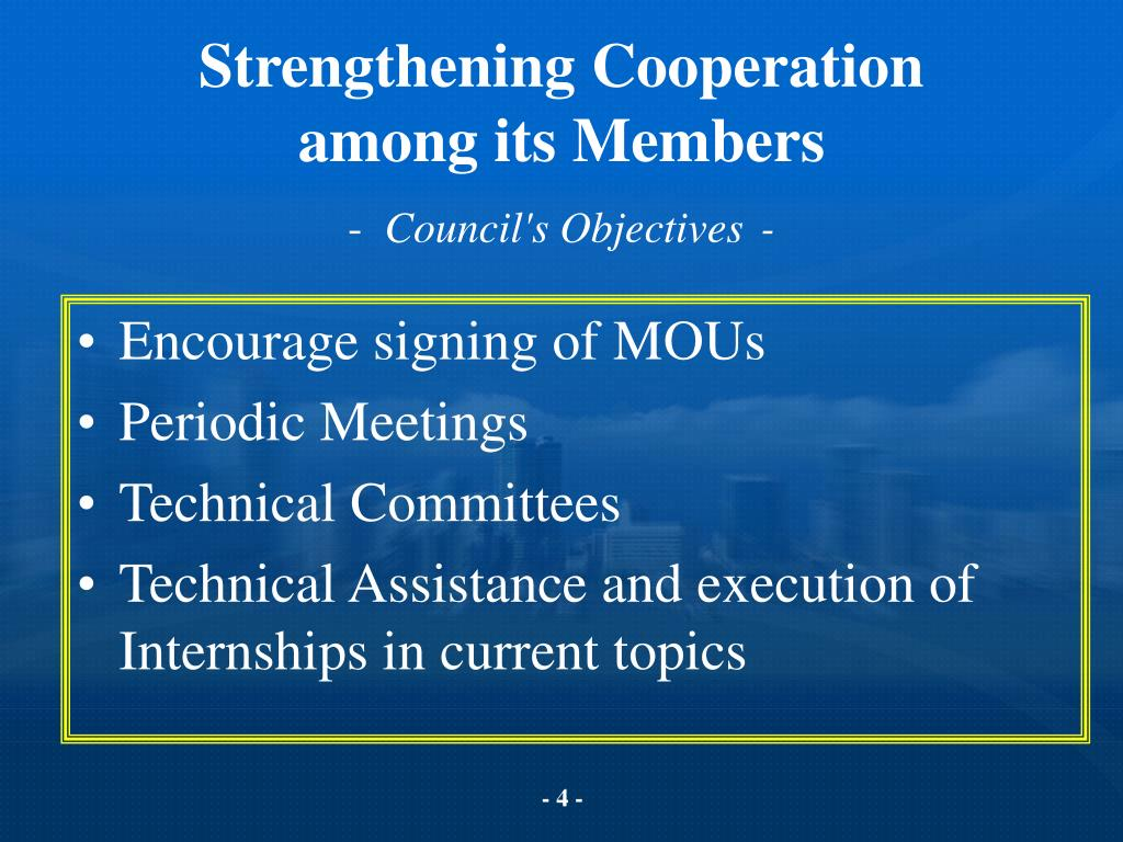 Strengthening Cooperation
