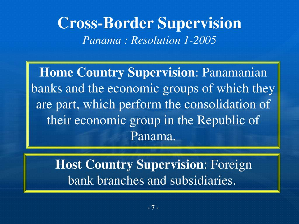 Cross-Border Supervision