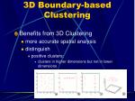 3d boundary based clustering
