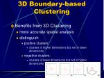 3d boundary based clustering24
