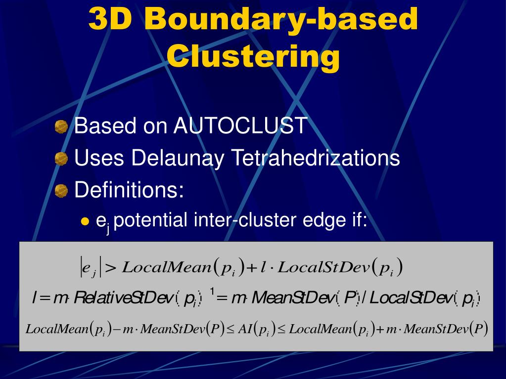 3D Boundary-based Clustering