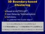 3d boundary based clustering25
