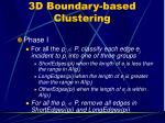 3d boundary based clustering26