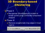 3d boundary based clustering27