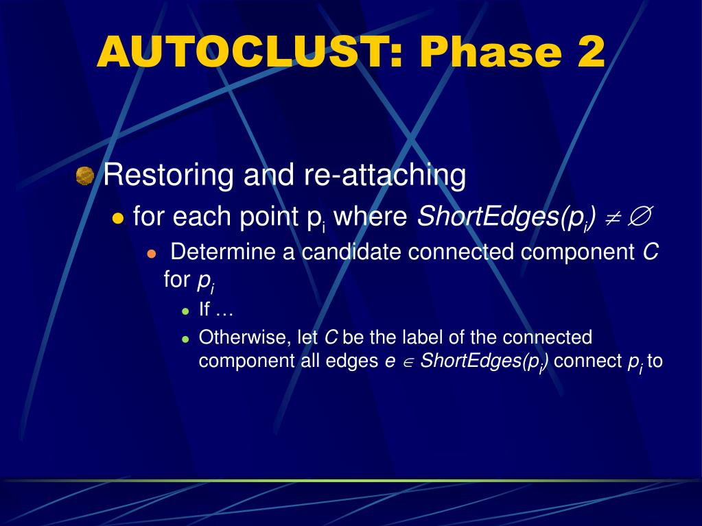 AUTOCLUST: Phase 2
