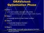 graviclust optimisation phase