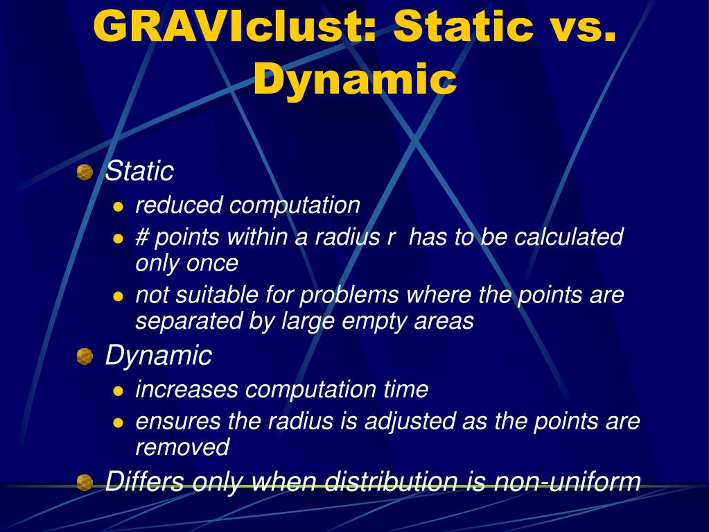 GRAVIclust: Static vs. Dynamic