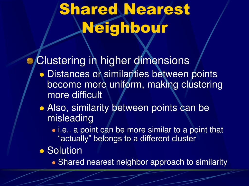 Shared Nearest Neighbour