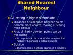 shared nearest neighbour