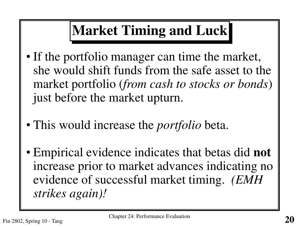 Market Timing and Luck