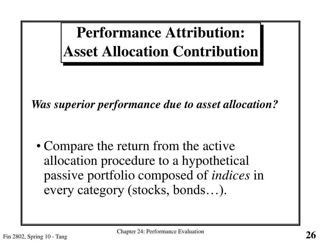 Performance Attribution: