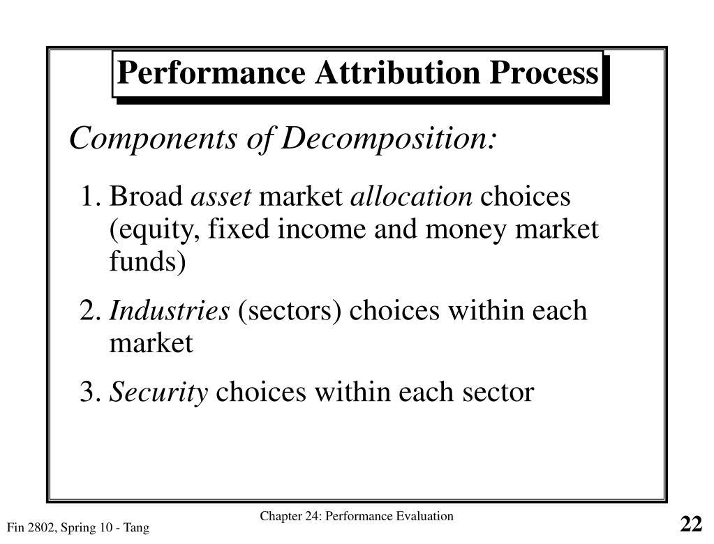 Performance Attribution Process