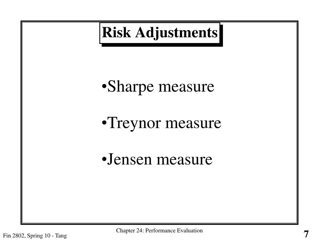 Risk Adjustments