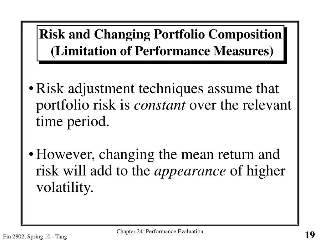 Risk and Changing Portfolio Composition