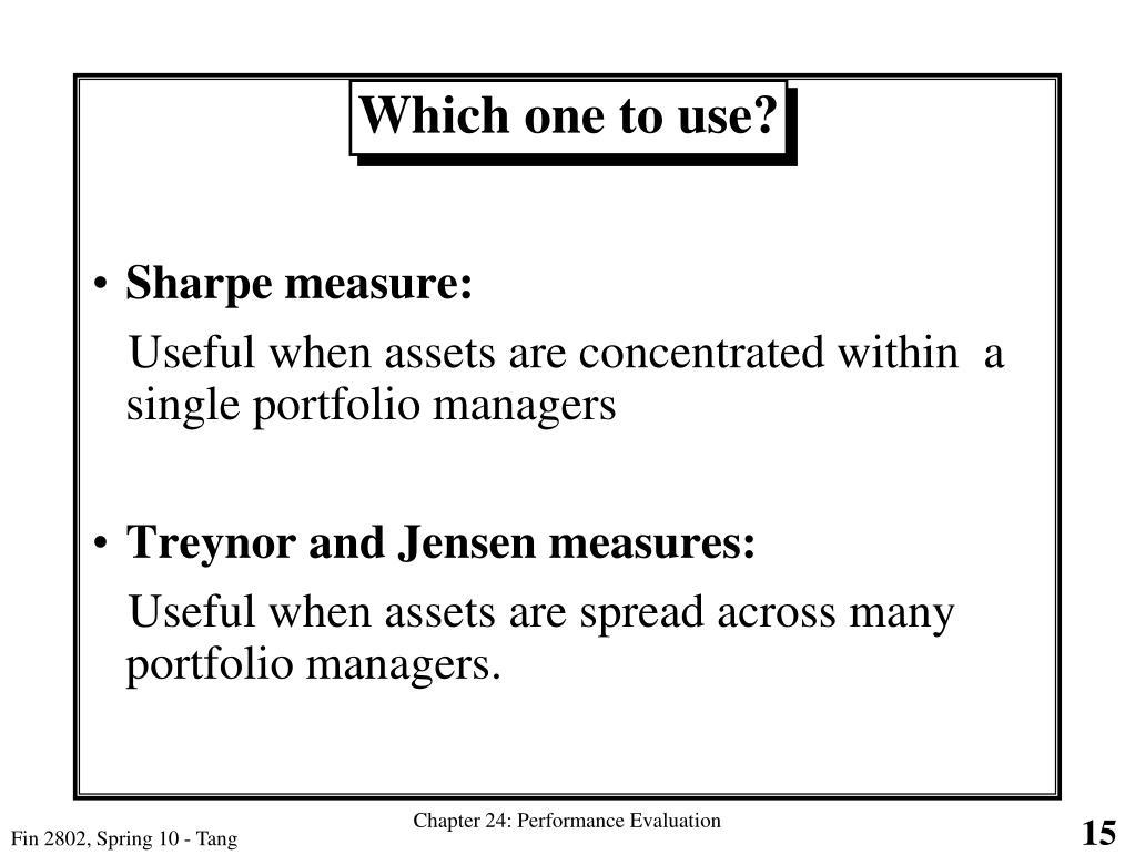 Sharpe measure: