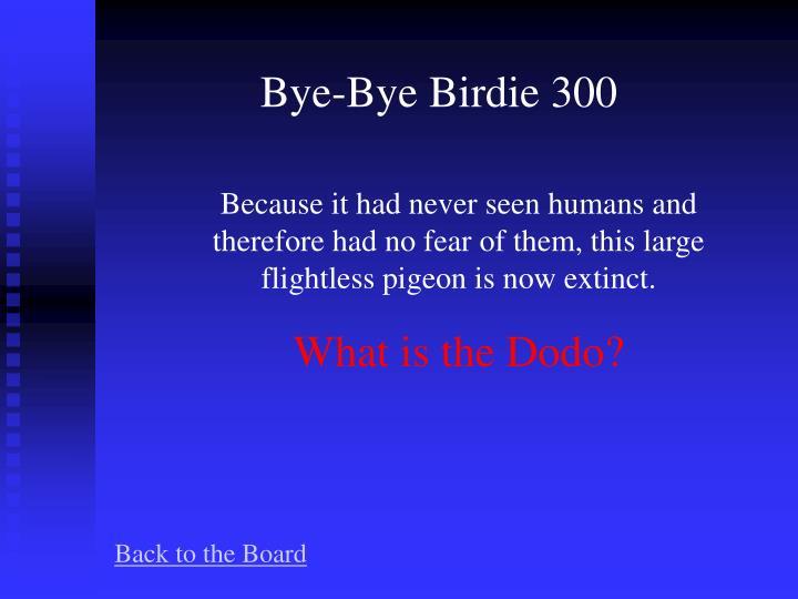 Bye-Bye Birdie 300