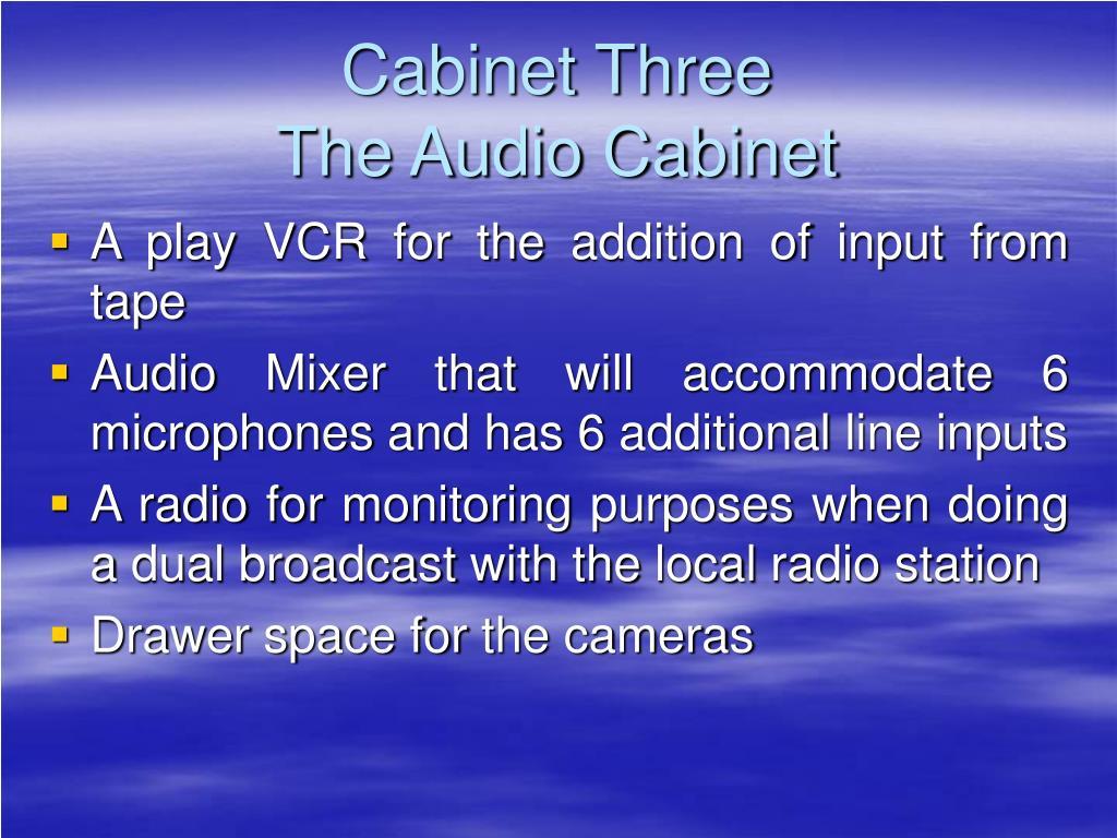 Cabinet Three