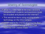 sharing of technologies