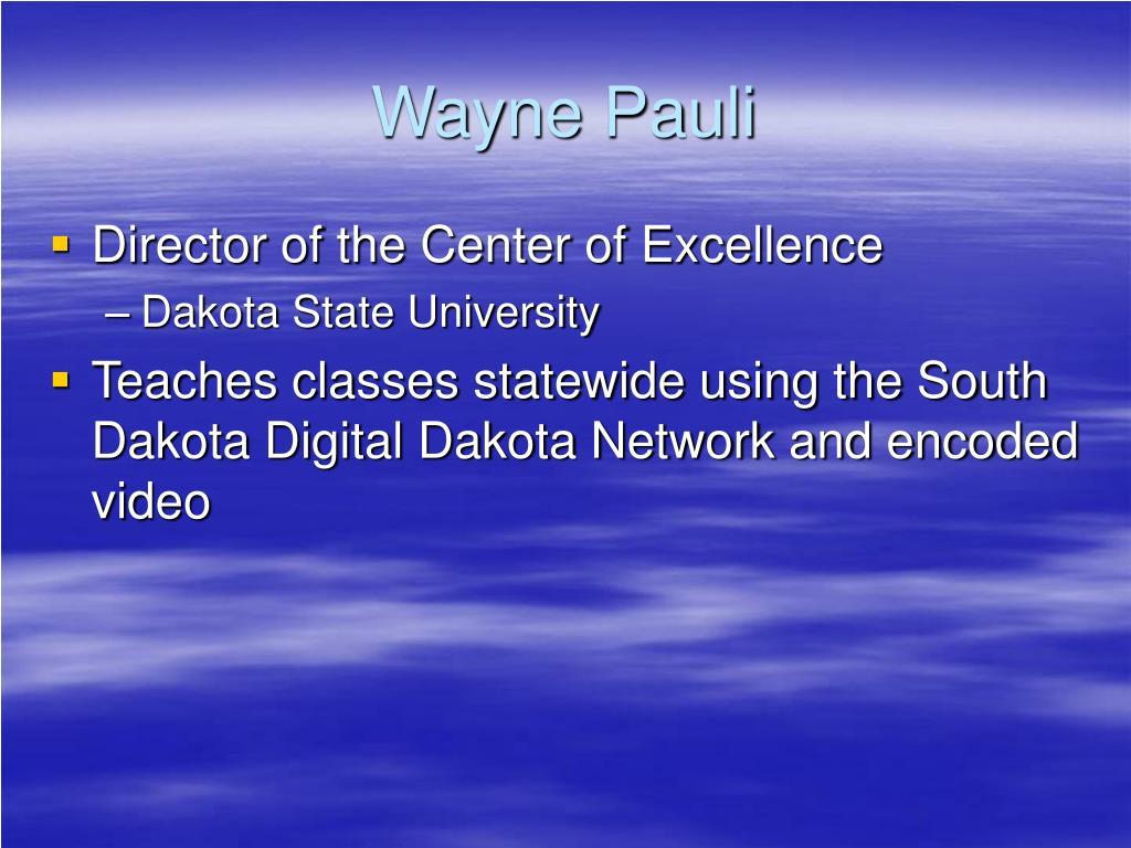 Wayne Pauli