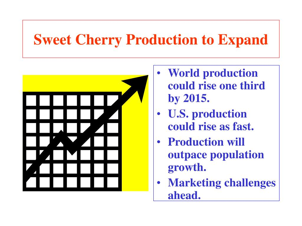 Sweet Cherry Production to Expand