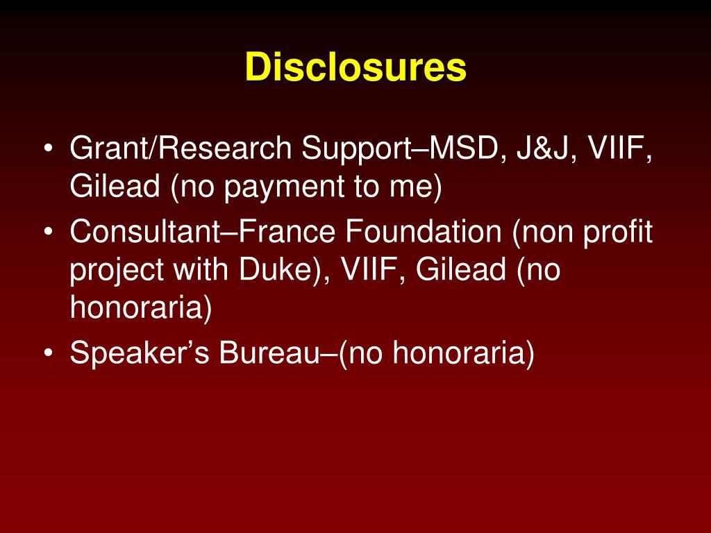 Disclosures