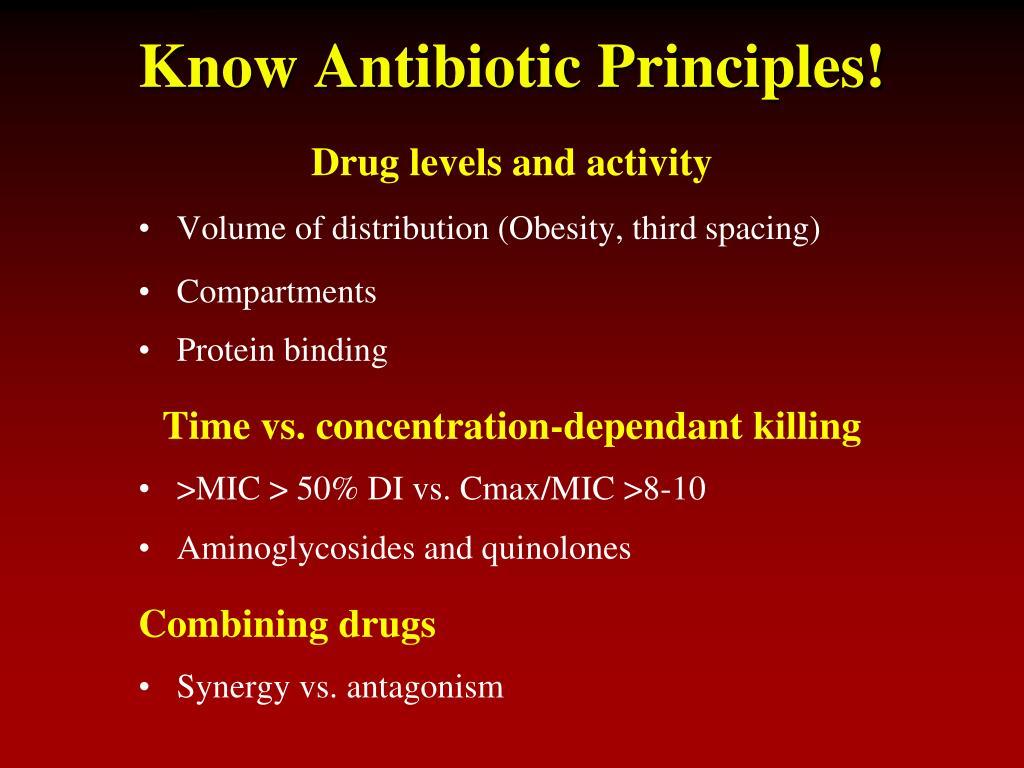 Know Antibiotic Principles!