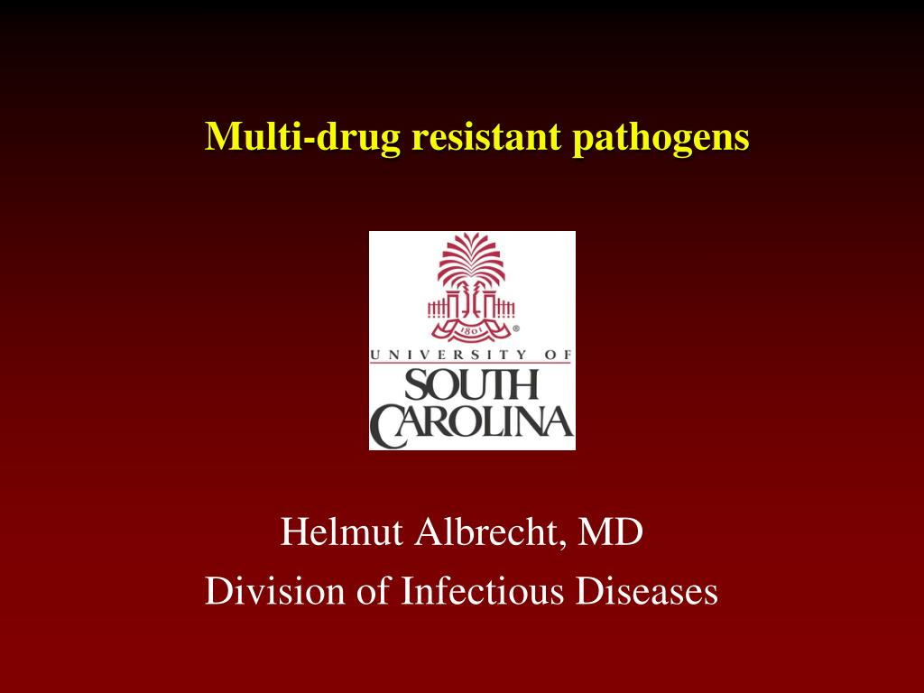 Multi-drug resistant pathogens