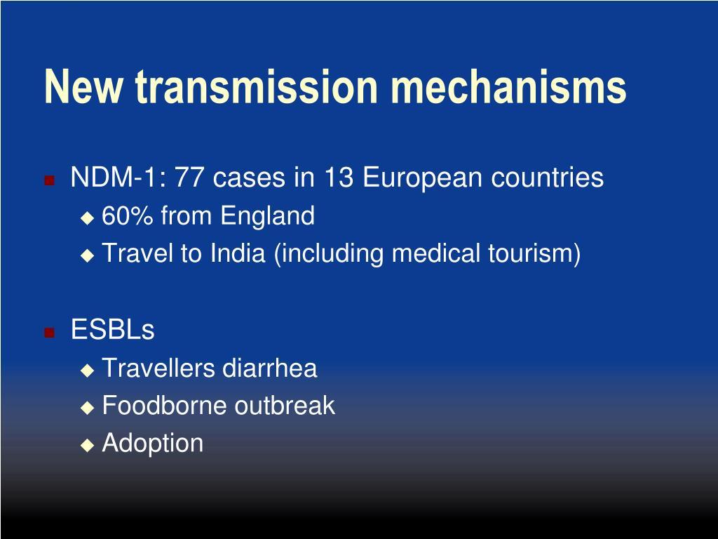 New transmission mechanisms