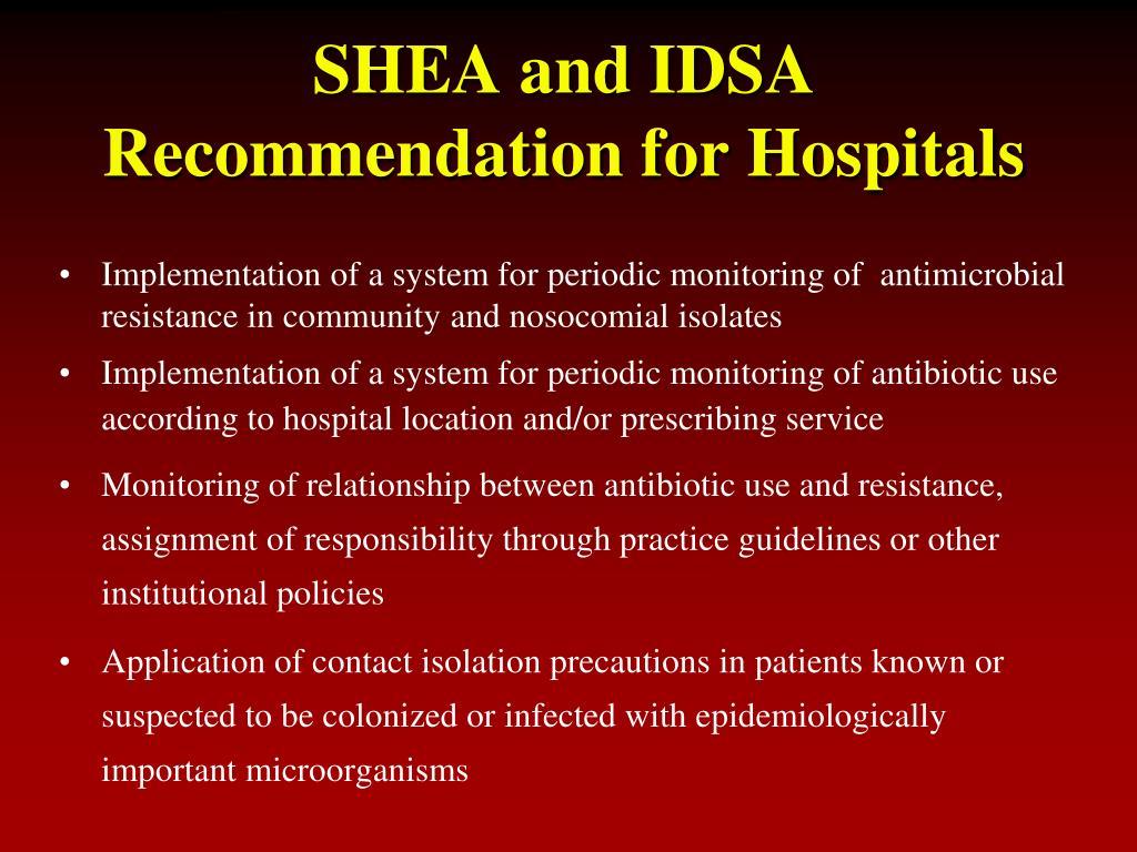 SHEA and IDSA