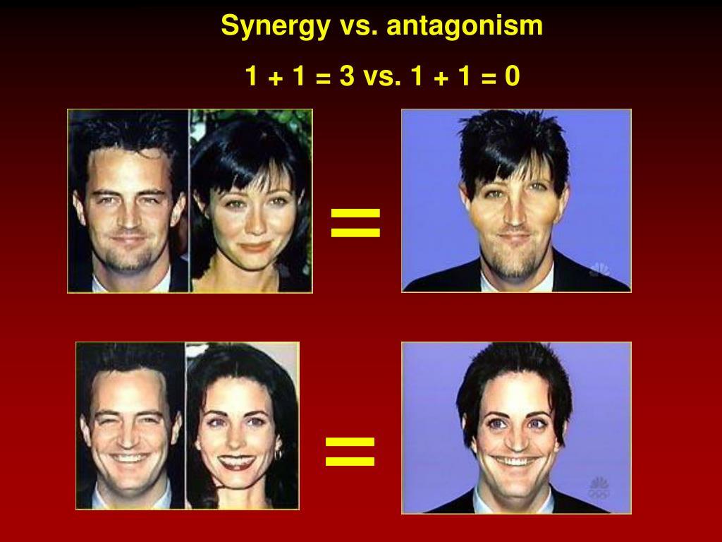 Synergy vs. antagonism