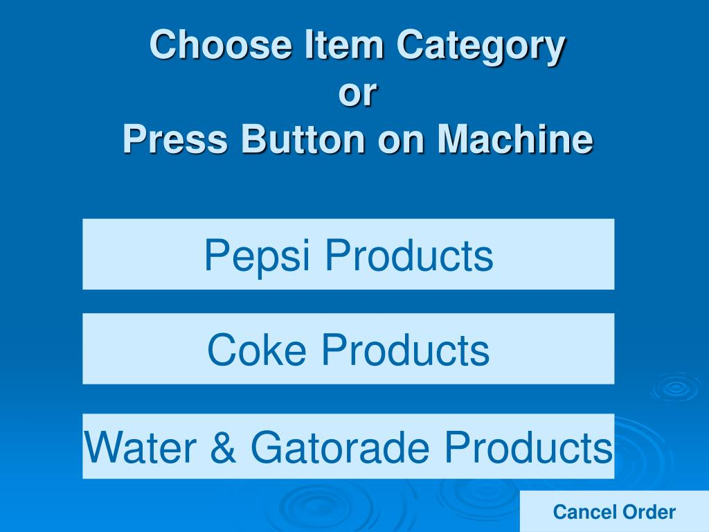 Choose Item Category
