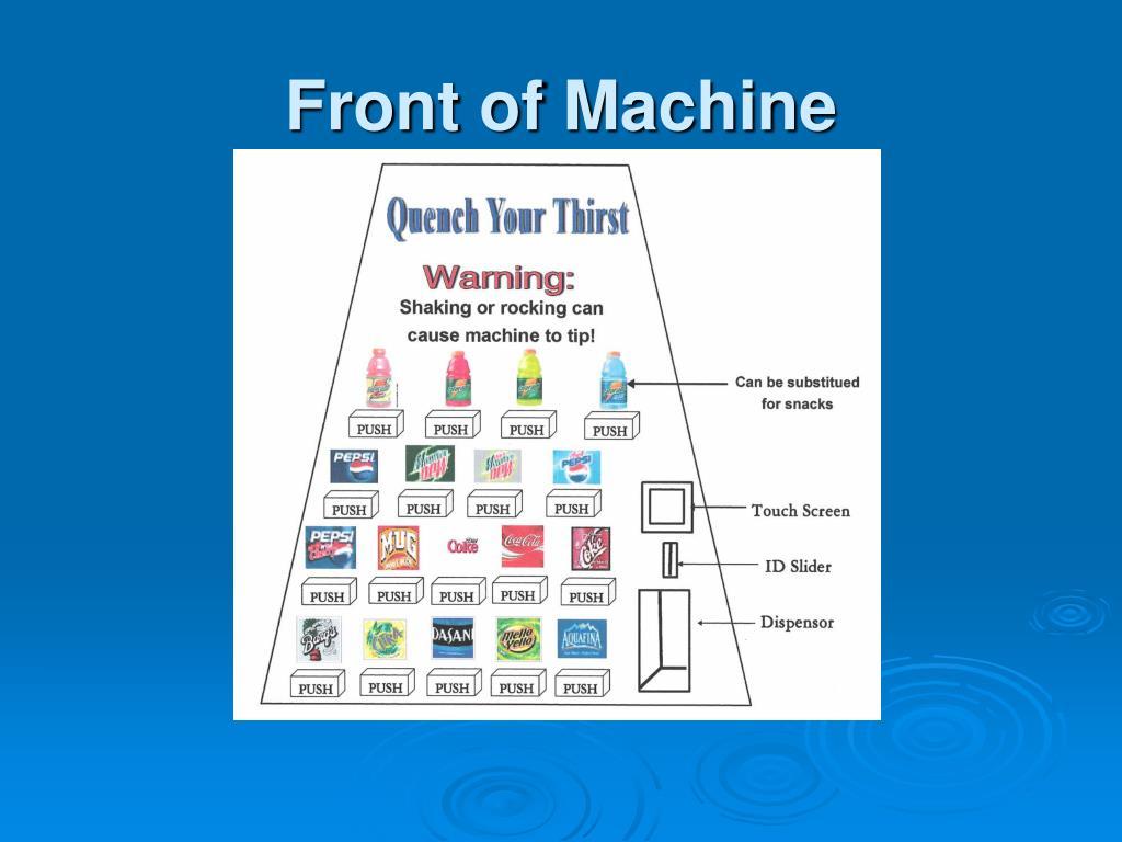Front of Machine