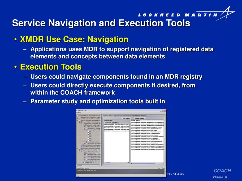 Service Navigation and Execution Tools