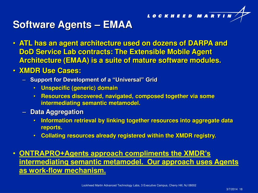Software Agents – EMAA