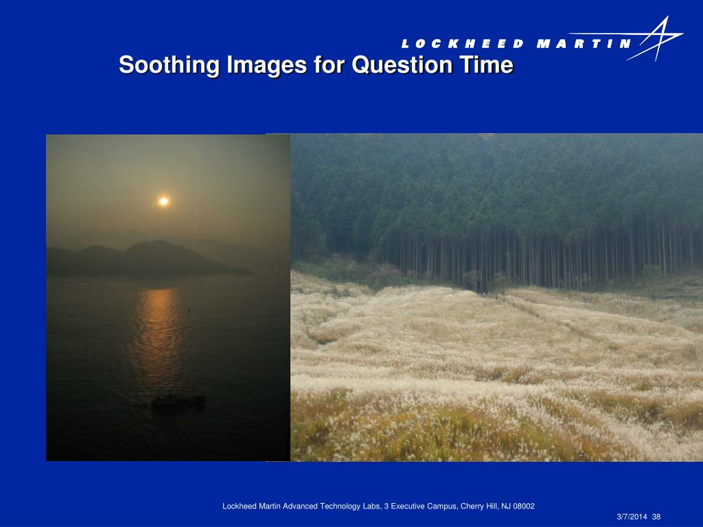 Soothing Images for Question Time