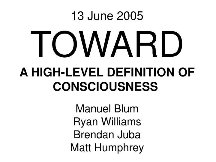 13 June 2005