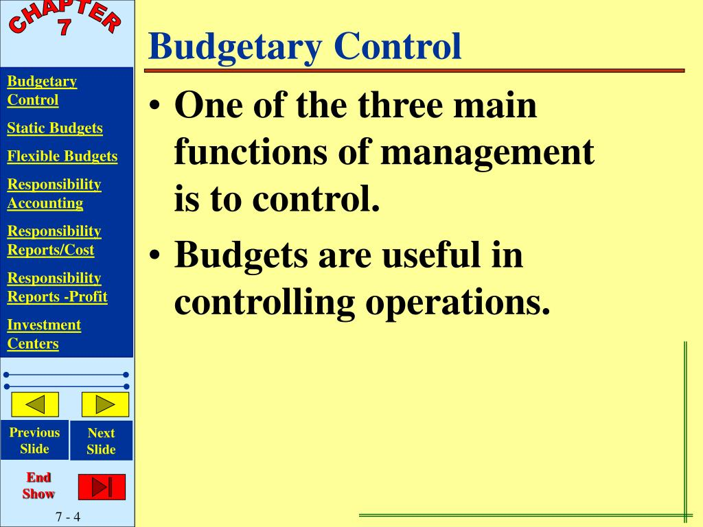 a budgetary control systems accounting essay Through budgeting organisations can provide information for strategic planning and control, these are the two main objectives of the budgetary control system management and management accountants must work together and operate a system that achieves these objectives, they do so through a system called variance analysis.