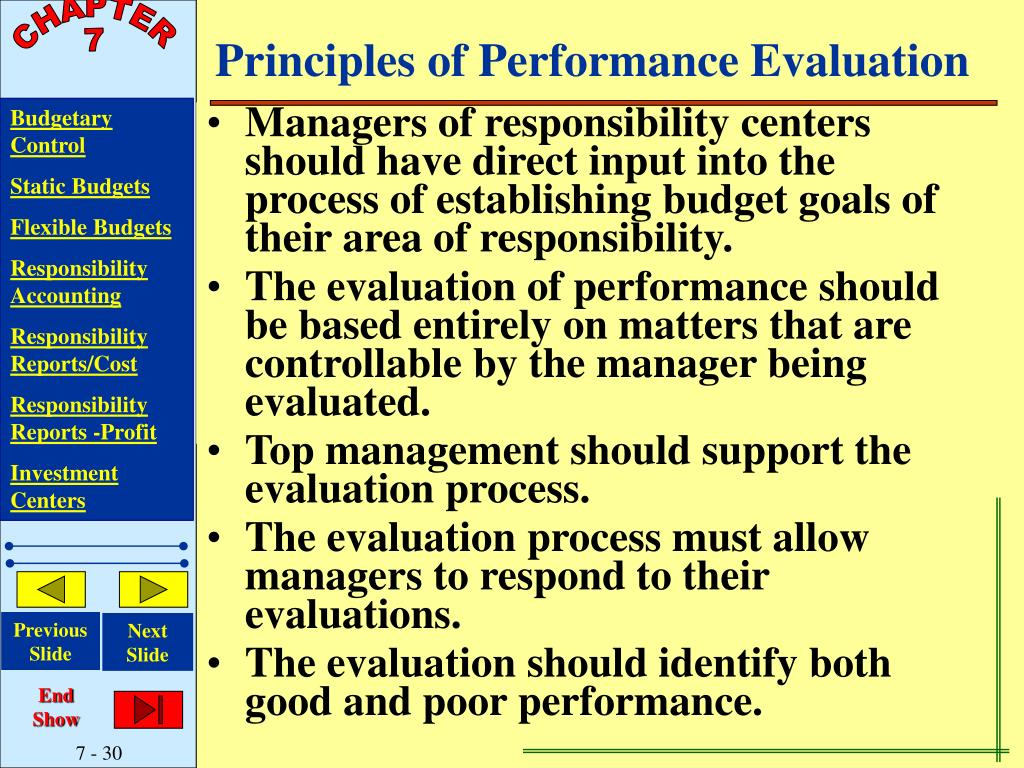 Principles of Performance Evaluation