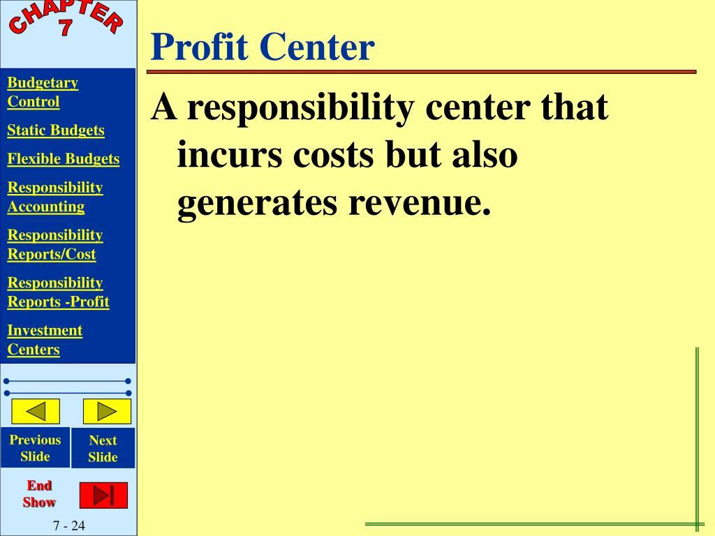 Profit Center