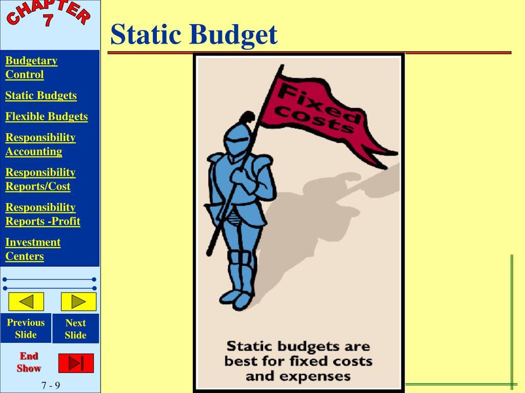Static Budget