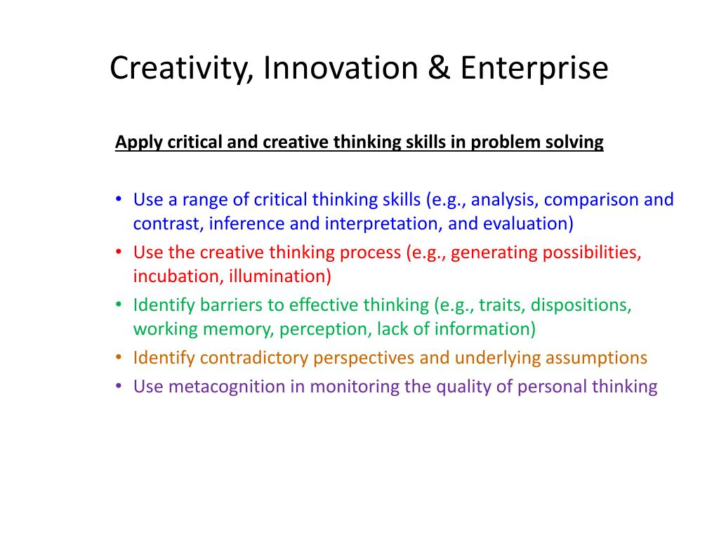 Creativity, Innovation & Enterprise